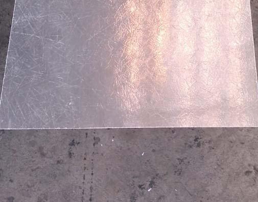 Chapa de fibra transparente