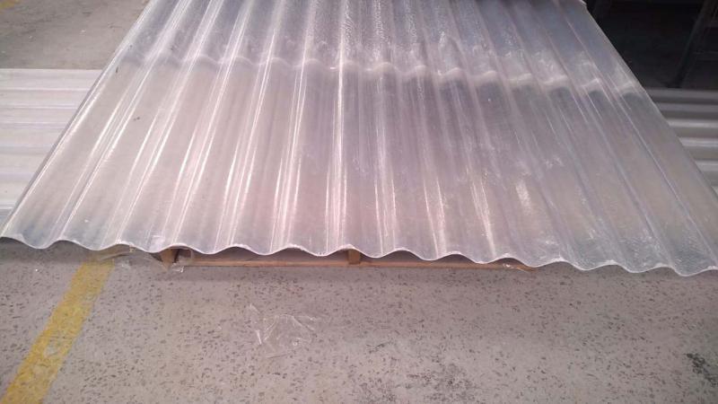 Telha fibra de vidro transparente